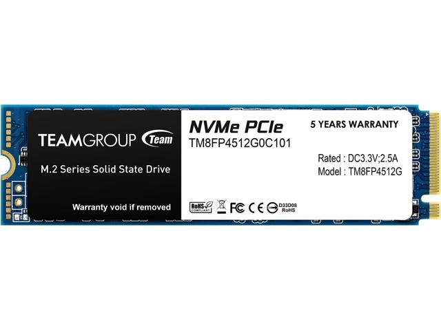 Team Group MP34 M.2 2280 512GB PCIe 3.0 x4 with NVMe 1.3 3D NAND Internal Solid State Drive (SSD) TM8FP4512G0C101