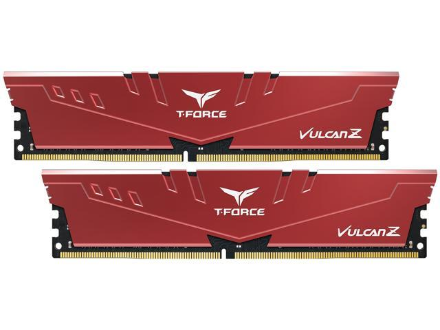 Team T-FORCE VULCAN Z 16GB (2 x 8GB) 288-Pin DDR4 SDRAM DDR4 3000 (PC4 24000) Desktop Memory Model ...