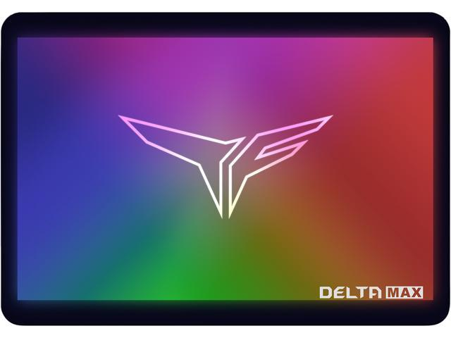 "Team Group T-FORCE Delta Max RGB SSD 2.5"" 500GB SATA III 3D NAND Internal RGB Solid State Drive (SSD) (For MB with 5V ADD Header)"