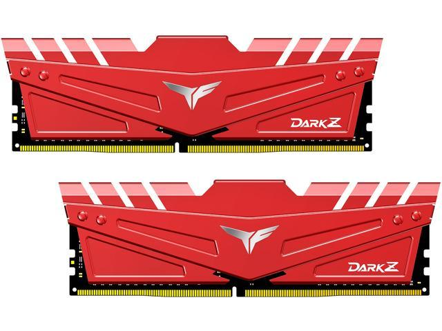 Team T-FORCE DARK Z 16GB (2 x 8GB) 288-Pin DDR4 SDRAM DDR4 3200 (PC4 25600) Intel XMP 2.0 Desktop Memory Model TDZRD416G3200HC16CDC01