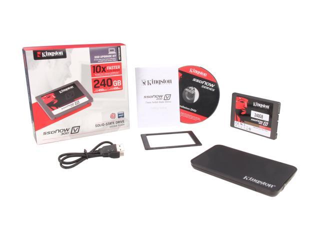 "Kingston  SSDNow V300 Series  SV300S3N7A/240G  2.5""  240GB  SATA III  Internal Solid State Drive (SSD) Notebook Bundle Kit - Retail"