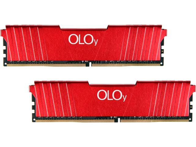 OLOy 32GB (2 x 16GB) 288-Pin DDR4 SDRAM DDR4 2400 (PC4 19200) Desktop Memory Model MD4U162417BFDA