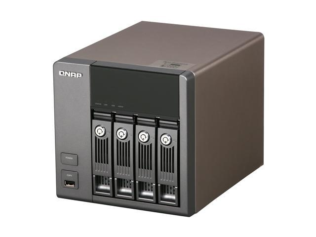 QNAP TS-410-US Diskless System All-in-one NAS Server with iSCSI for SOHO  and Home Users - Newegg com
