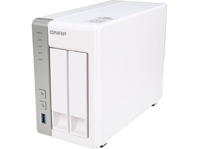 QNAP TS-231 2-Bay Personal Cloud NAS Diskless System with DLNA, PLEX  Support - Newegg com