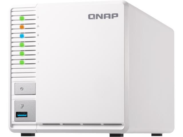 Qnap 3 Bay TS-328-US Personal Cloud NAS, Ideal for RAID5 Storage  ARM  Quad-core 1 4 GHz, 2GB DDR4 RAM, 2 x Gigabit LAN, 2 5