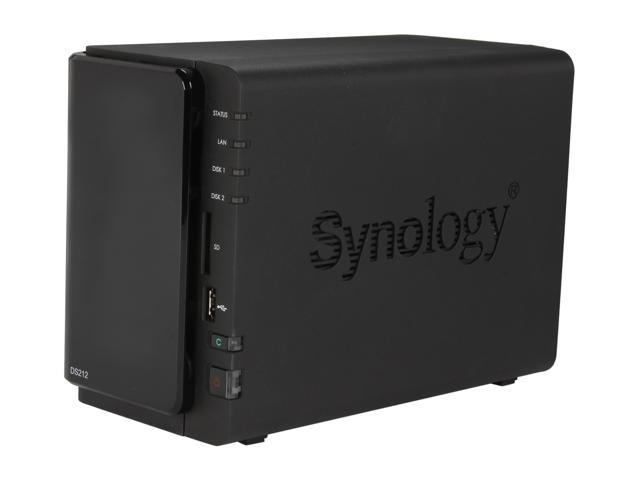 Synology DS212 Diskless System DiskStation - Feature-rich 2-bay NAS Server for Workgroups and Offices