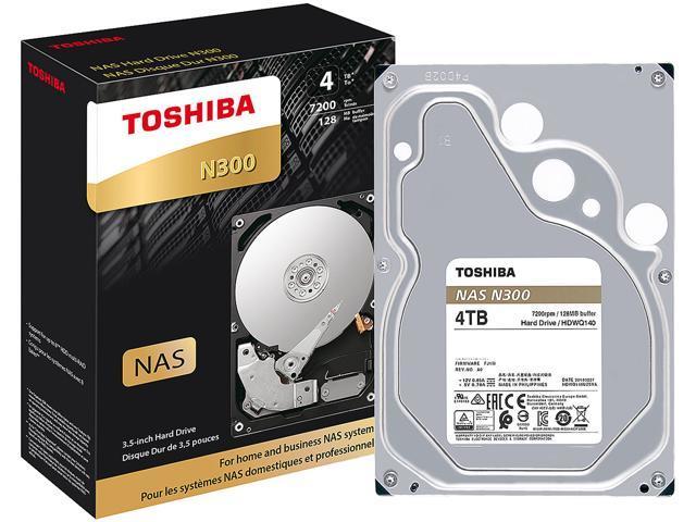 Toshiba N300 4TB NAS Internal Hard Drive 7200 RPM SATA 6Gb/s