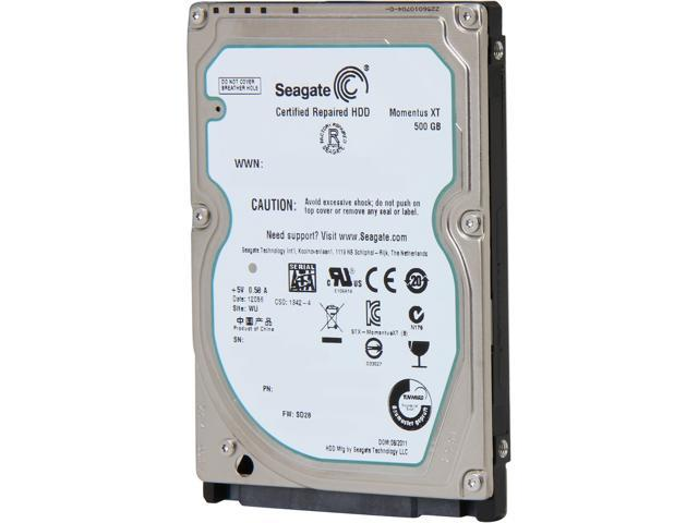 """Seagate XT 500GB ST500LX003 32MB SATA 2.5/"""" Laptop SSHD Solid State Hybrid Drive"""