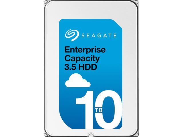 Seagate Enterprise Capacity 3.5'' HDD 10TB (Helium) 7200 RPM SAS 12Gb/s 256MB Cache SED Model 512e Internal Hard Drive ST10000NM0216