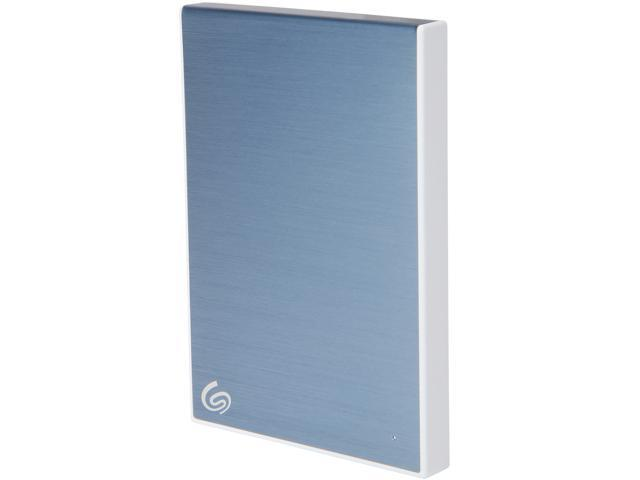 Seagate 2TB Backup Plus Slim Portable External Hard Drive USB 3.0 STHN2000402 Light Blue + 1Yr Mylio Create + 2MO Adobe CC Photography
