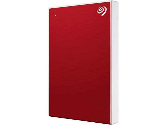 Seagate 1TB Backup Plus Slim Portable External Hard Drive USB 3.0 STHN1000403 Red + 1Yr Mylio Create + 2MO Adobe CC Photography