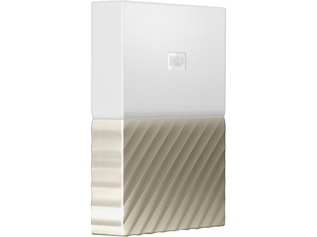 WD 4TB My Passport Ultra Portable Storage with Metal Finish USB 3.0 Model WDBFKT0040BGD-WESN White - Gold