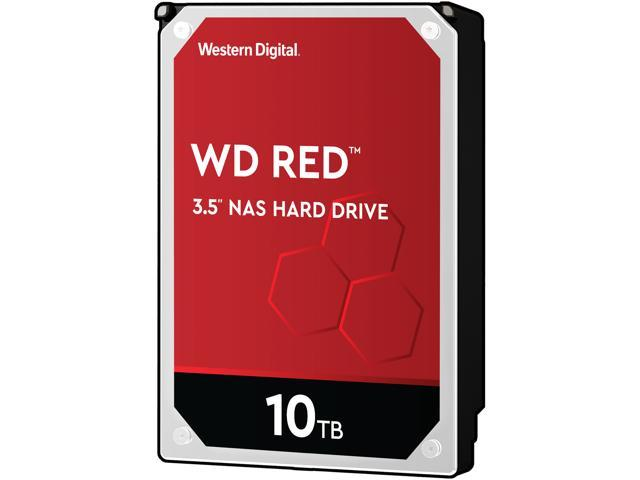 Western Digital Red 10TB NAS Hard Disk Drive - 5400 RPM Class SATA 6Gb/s 256MB Cache 3.5 Inch - WD100EFAX