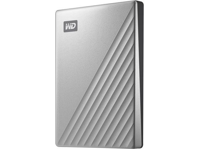 WD 1TB My Passport Ultra Portable Storage External Hard Drive USB-C  Silver WDBC3C0010BSL-WESN