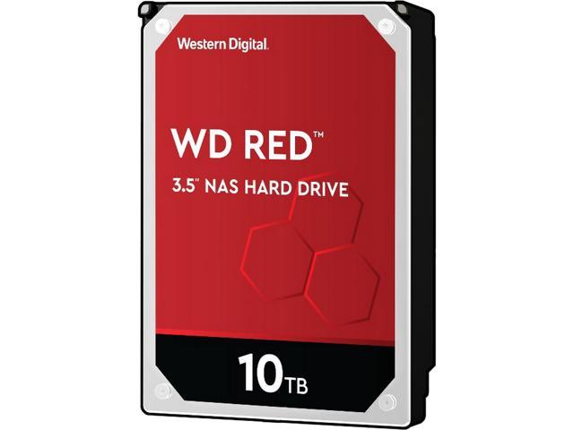 "WD Red 10TB NAS Internal Hard Drive - 5400 RPM Class, SATA 6Gb/s, CMR, 256MB Cache, 3.5"" - WD101EFAX"