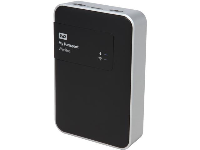Open Box: WD 2TB My Passport Wireless Portable External Hard Drive - Wi-Fi  USB 3 0 - WDBDAF0020BBK-NESN - Newegg com