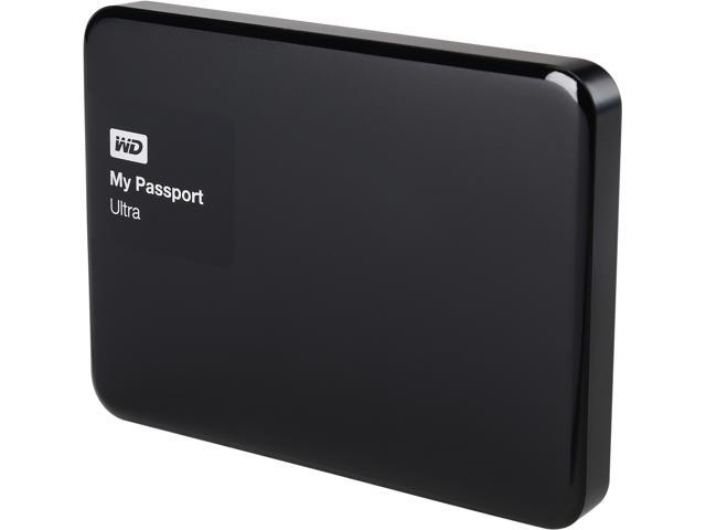 Open Box: WD 1TB Black My Passport Ultra Portable External Hard Drive - USB  3 0 - WDBGPU0010BBK-NESN - Newegg com