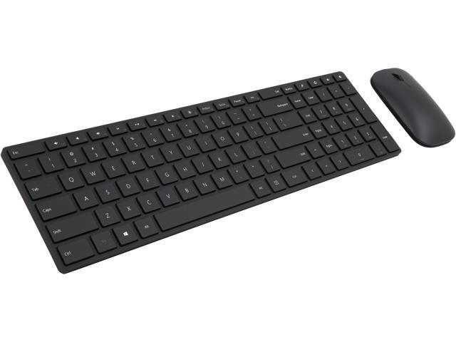 050a957599a Microsoft Designer Bluetooth Desktop 7N9-00001 Black Bluetooth Wireless Slim  Keyboard & Mouse