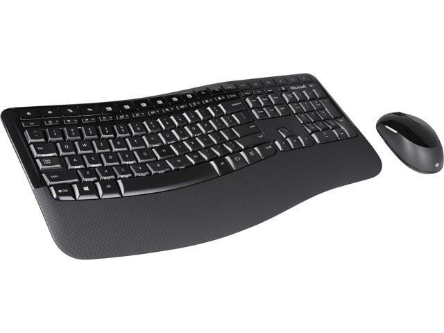 27a74f05a94 Microsoft Comfort Desktop 5050 PP4-00001 Black USB RF Wireless Ergonomic  Keyboard & Mouse