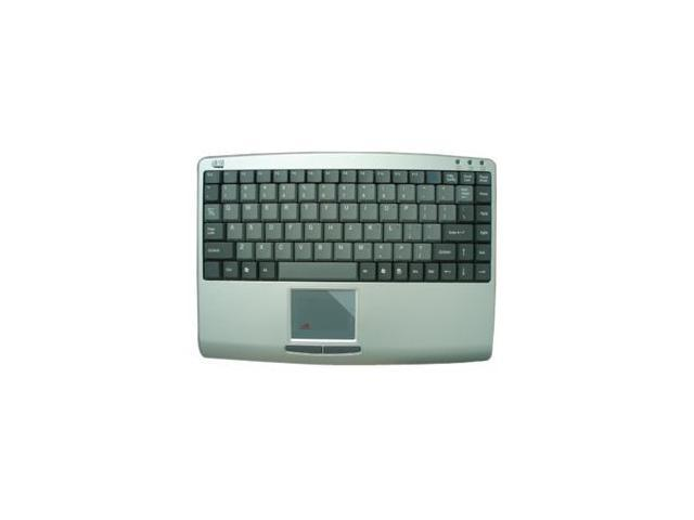 ADESSO AKB-410PS Silver/Black PS/2 Mini SlimTouch Keyboard with built in TouchPad