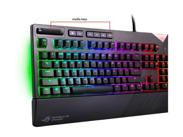 ASUS ROG Strix Flare RGB Mechanical Gaming Keyboard with Aura Sync - Cherry  MX Brown c676ba6ecd083