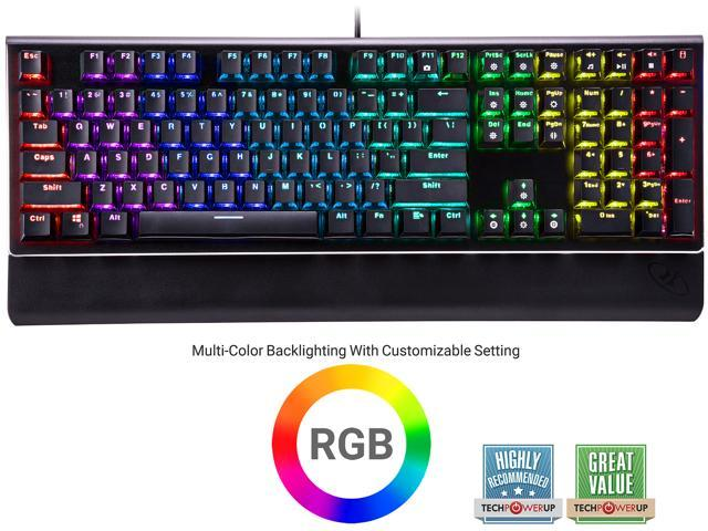e5111aeddff Rosewill NEON K85 RGB Mechanical Gaming Keyboard with Blue Switches