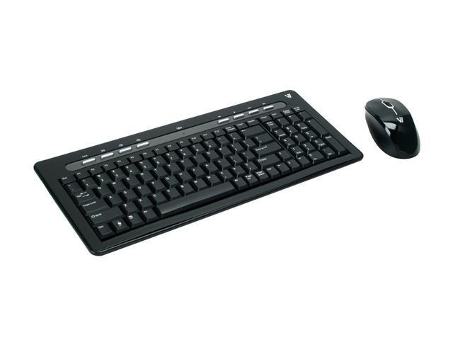 V7 CK2B0-6N6 Black 2.4 GHz Wireless Keyboard and Mouse Combo ... a15fa9d4bd126
