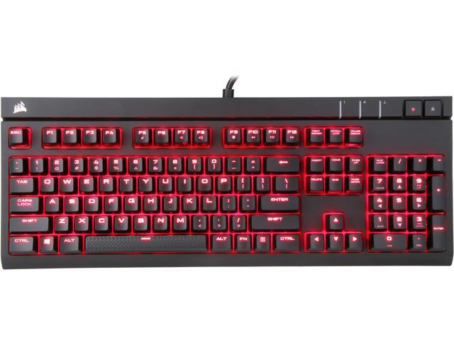 a2acafcf7f3 Refurbished: Corsair Certified Refurbished STRAFE Mechanical Gaming Keyboard  - Cherry MX Red Switch - Red LED Backlit - USB Passthrough - Linear and  Quiet ...