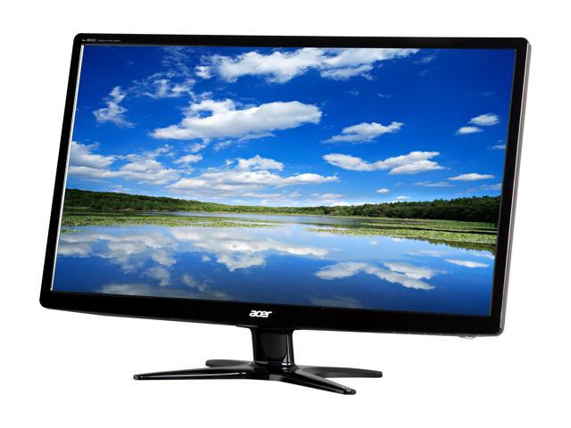 "Acer G6 Series G246HL Abd 24"" Full HD 1920 x 1080 5ms 60Hz VGA DVI Slim Profile Widescreen White Backlit LED LCD Monitor"