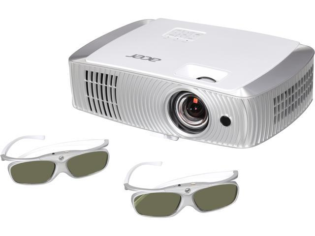 Acer H7550ST Projector, 3000 Lumens, 16000:1 Contrast Ratio, 54