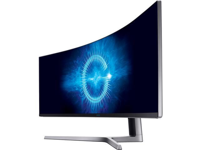 "Samsung CHG90 Series C49HG90 49"" 1800R 3840x1080 32:9 144Hz 3:000:1 QLED Curved HDR AMD FreeSync Gaming Monitor, 3840 x 1080 1ms, 2xHDMI, DisplayPort, Mini DisplayPort, USB Hub, VESA mount"