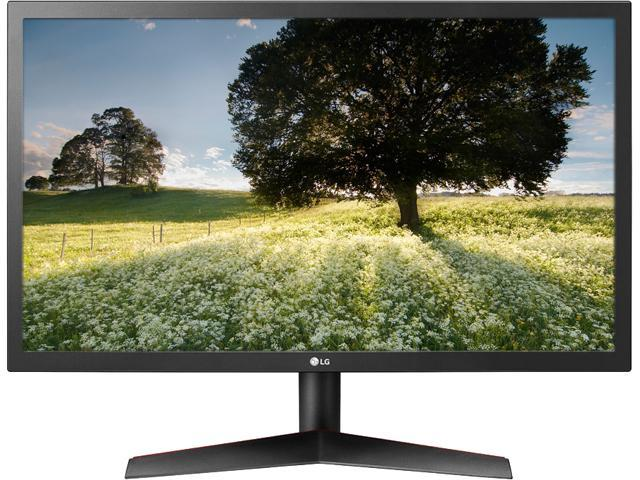 "LG 24GL65B-B 24"" Full HD 1920 x 1080 144Hz 1ms 2 x HDMI, DisplayPort Radeon FreeSync Technology Flicker Safe Anti-Glare Widescreen LED Backlit Gaming Monitor"