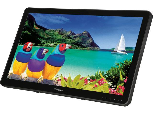"ViewSonicTD2430 24"" Touch Monitor, 1920 x 1080, 50,000,000:1 Contract Ratio, 250cd/m2, 10-point Multi-touch, 178/178 Ultra-wide Viewing Angles, DisplayPort, HDMI&VGA, Build-in Speaker"