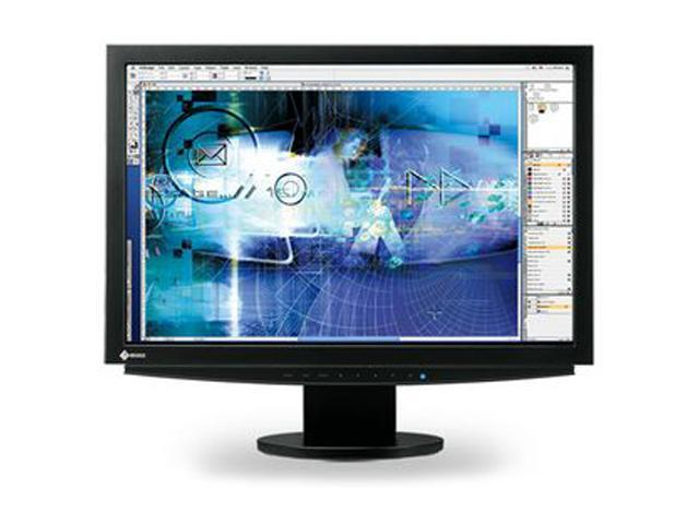 "EIZO CE240W-BK 24.1"" WUXGA 1920 x 1200 On/Off Response Time: 16ms Midtone Response Time: 8ms D-Sub, DVI LCD Monitor"