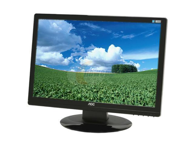 aoc 2219s1 piano black finish 22 5ms widescreen lcd monitor 300 cd rh newegg com AOC Portable Monitor AOC TV