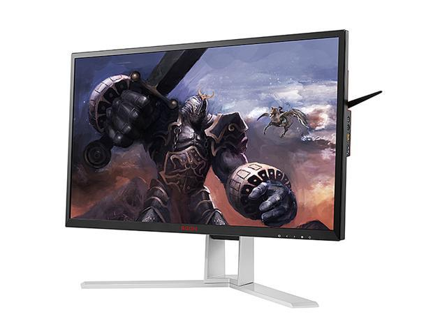 "AOC AGON AG241QX 24"" Gaming Monitor, QHD 2K 1440P, G-SYNC Compatible + AdaptiveSync, 144Hz, 1ms, Height Adjustable, DisplayPort/HDMI/DVI-D/VGA, USB 3.0 hub, QuickSwitch keypad"