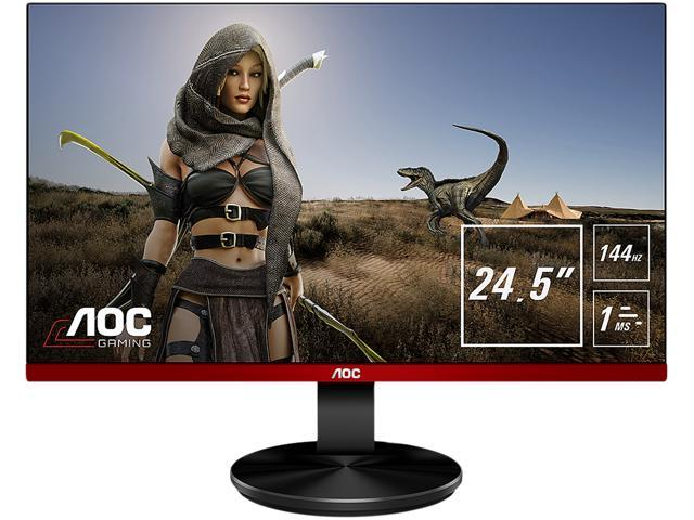"AOC G2590FX 25"" (24.5"" viewable) Frameless Gaming Monitor, Full HD 1920 x 1080, 1ms, 144Hz, G-SYNC Compatible + AMD FreeSync, 96% sRGB Coverage, Low Input Lag, DisplayPort/HDMI/VGA, VESA"
