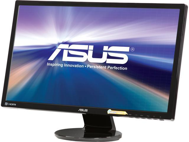 "ASUS VE248Q 24"" 1920 x 1080 2ms (GTG) VGA HDMI DisplayPort Asus Eye Care with Ultra Low-Blue Light & Flicker-Free Built-in Speakers LCD Monitor"