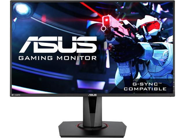 "ASUS VG278Q 27"" Full HD 1920x1080 144Hz 1ms DisplayPort HDMI DVI Asus Eye Care Technology G-SYNC Compatible Built-in Speakers LCD Gaming Monitor"