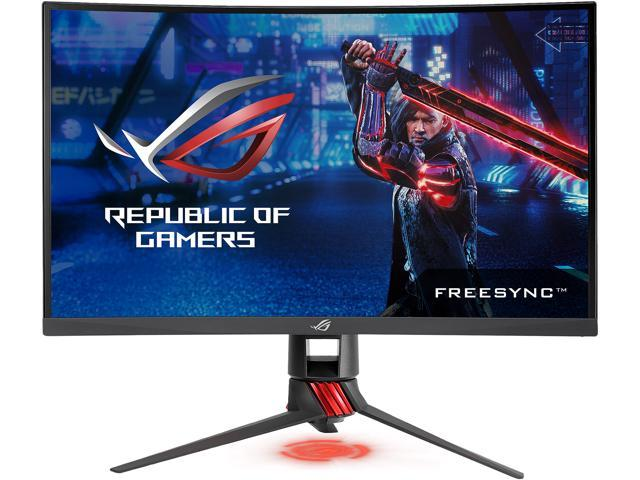"ASUS ROG Strix XG27VQ 27"" Full HD 1920 x 1080 FreeSync 144Hz Curved Gaming Monitors with Aura RGB Lighting, Height, and Swift ..."