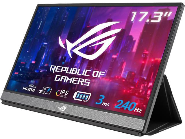 "ASUS ROG Strix XG17AHPE 17"" (Actual size 17.3"") Full HD 1920 x 1080 3 ms (GTG) 240 Hz (Max) Micro HDMI, USB-C Built-in Speakers Portable IPS Gaming Monitor"