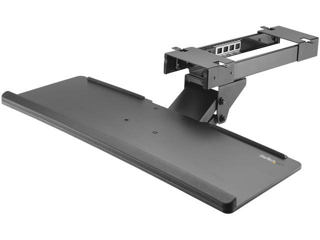 Startech Kbtrayadj Under Desk Keyboard Tray 26 4in Wide Adjule Computer Stand