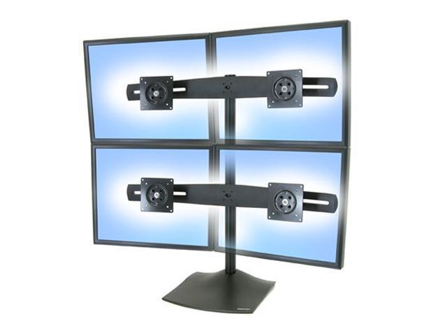 ergotron ds100 quad monitor desk stand horizontal conserve desk rh newegg com