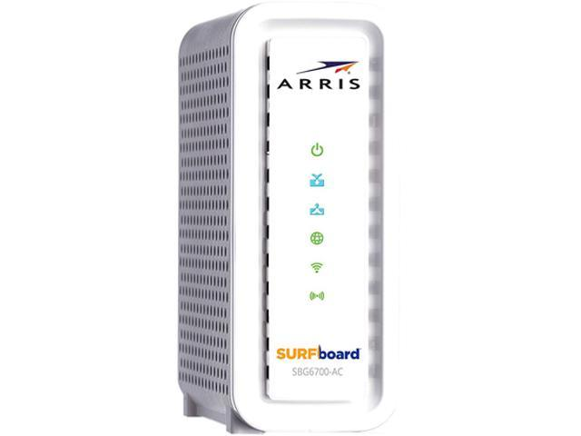 6b599c1be Arris SURFboard SBG6700-AC Wireless Router - Cable Modem - 1600 Mbps - 2.4    5 GHz - Gigabit Ethernet