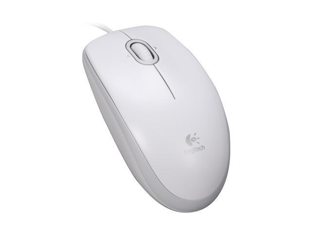 Logitech M110 White Mouse - Newegg.com