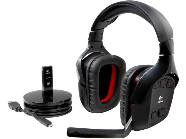 752c12807af Logitech Wireless Gaming Headset G930 with 7.1 Surround Sound, Wireless  Headphones with Microphone