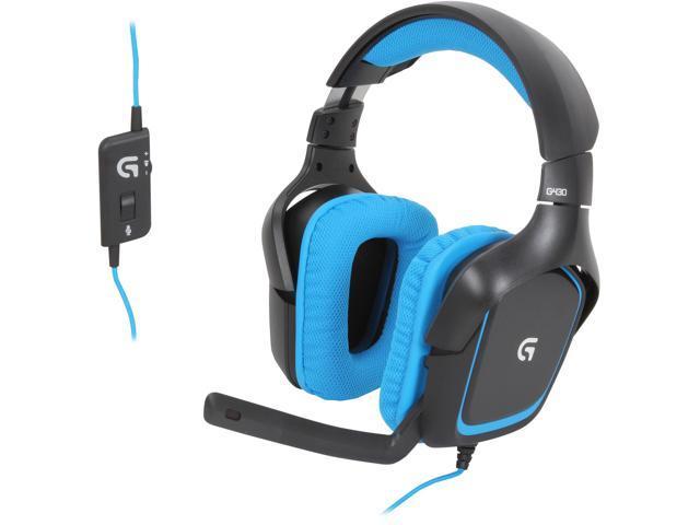7bff2c32154 Logitech G430 USB Connector Circumaural Surround Sound Gaming Headset