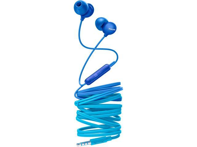 923b1713823 Philips UpBeat SHE2405 In-Ear Headphones, In-line Mic - Transluscent Blue