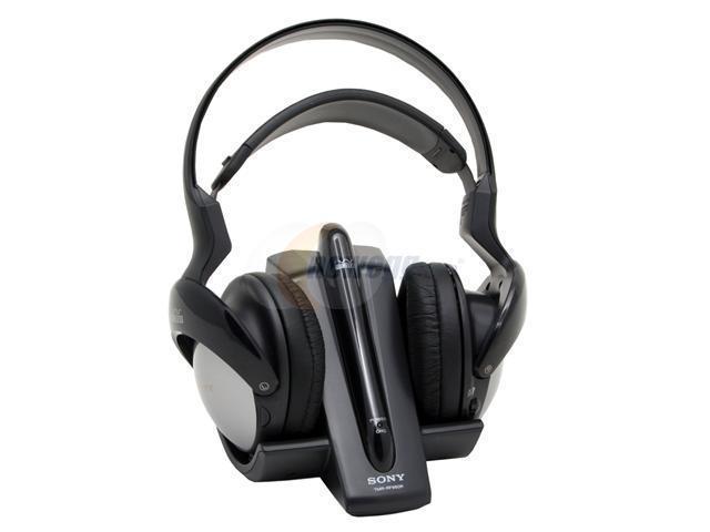 SONY MDRRF960RK Circumaural 900MHz Analog Radio Frequency Headphone System W Auto Tuning