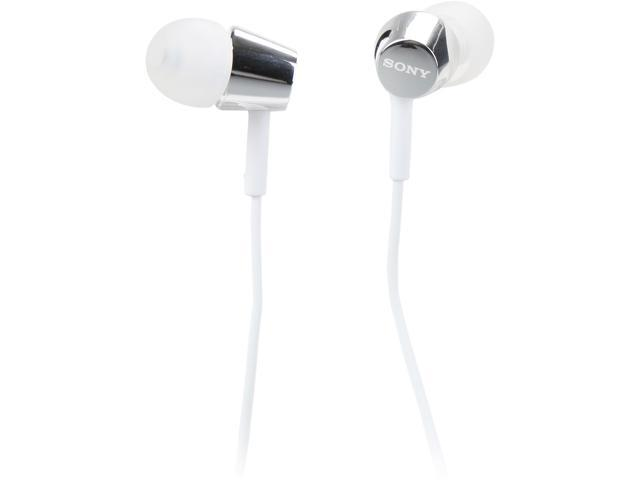 Sony MDREX150APW In-Ear Headphones with Remote and Mic (White)